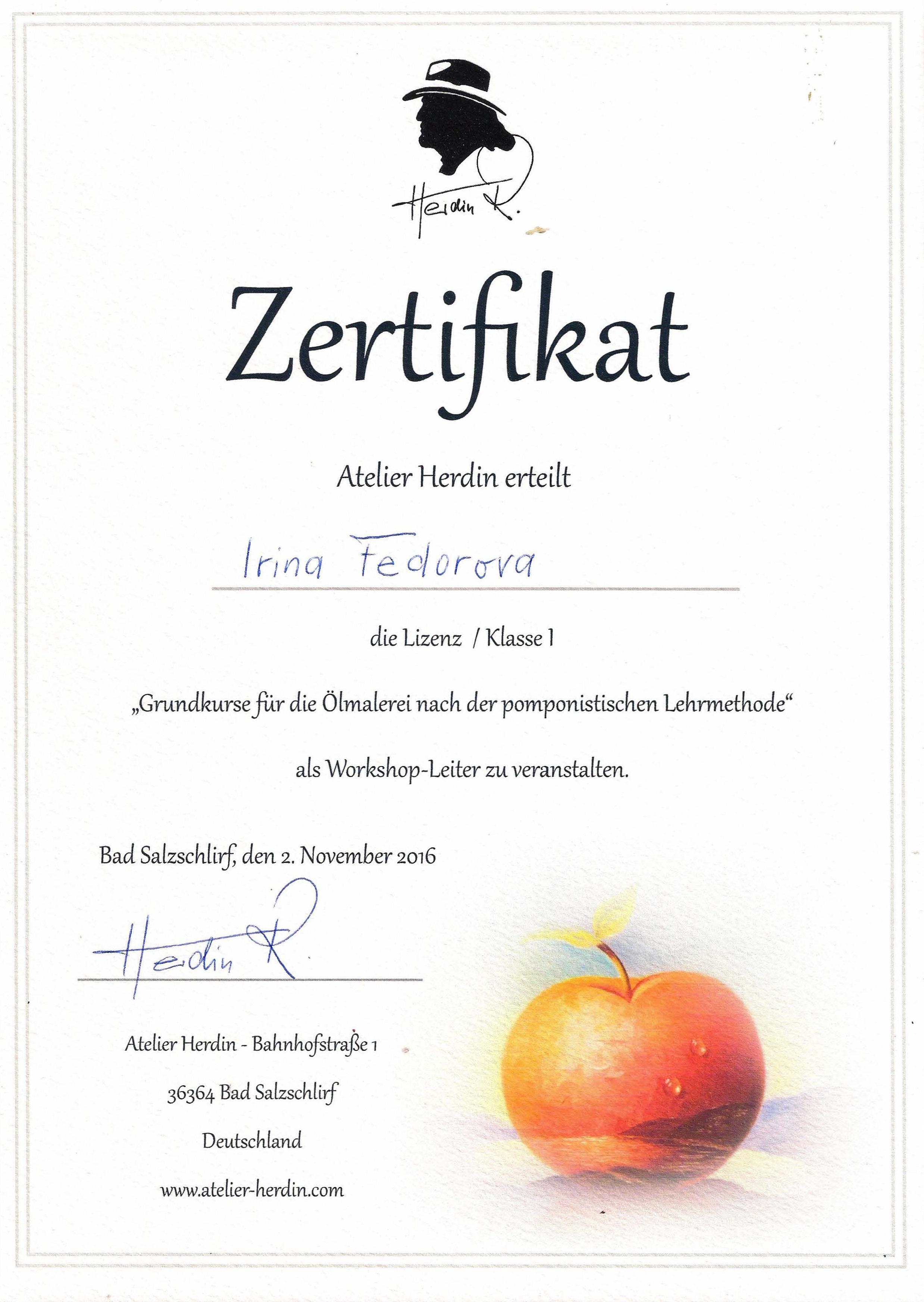 Herdins Zertifikate